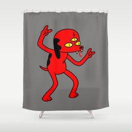 Satan's Little Helper Shower Curtain