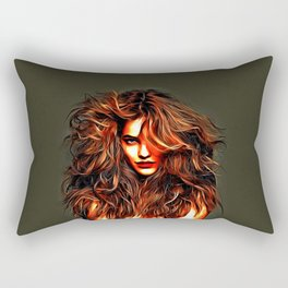 Barbara Palvin - Celebrity Art Rectangular Pillow