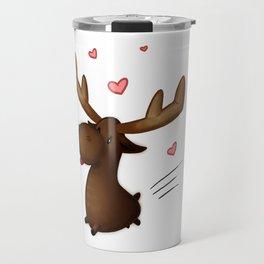 Chibi Lovestruck Moose Travel Mug