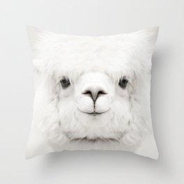 SMILING ALPACA Throw Pillow