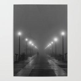 The Pier in Fog Poster