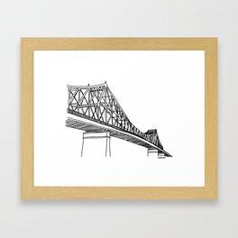 Montreal - Pont Jacques-C - Black Framed Art Print