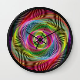 Psychedelic spiral dream Wall Clock
