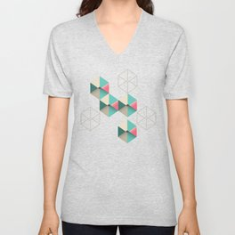 Empty cubes Unisex V-Neck