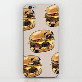 Pugs Burger iPhone Skin