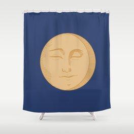 Vintage Moon Shower Curtain