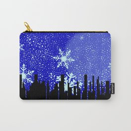 Winter Cityscape Background Carry-All Pouch