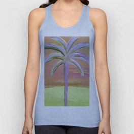 purple palm Unisex Tank Top