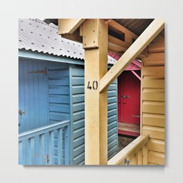 Beach Huts 40A Metal Print