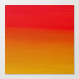 Red Apple and Golden Honey Ombre Sunset Canvas Print