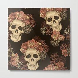 Lovely Skull Metal Print