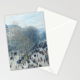 Claude Monet - Boulevard des Capucines, 1873 Stationery Cards