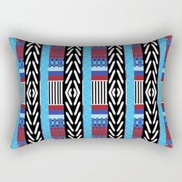 Black Blue Etnic Rectangular Pillow