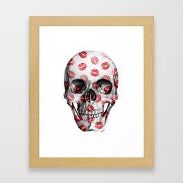 Kisses Skull Framed Art Print