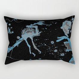 Blue Bird Lizard Rectangular Pillow
