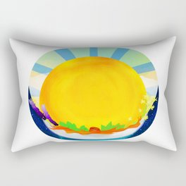 Wheel Series : Summer Solstice Medallion Rectangular Pillow
