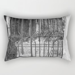 old gate & grave Rectangular Pillow