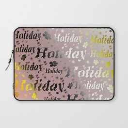 shiny font happy holidays in rose gold Laptop Sleeve