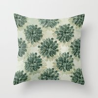 succulents Throw Pillows featuring Succulents by Sandra Arduini