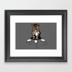 Eyes of cat Framed Art Print