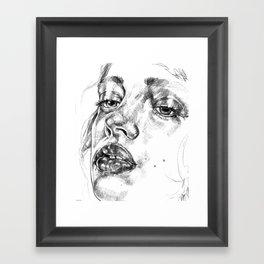 Colored Pencil Portrait Framed Art Print