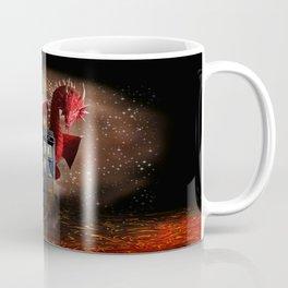 Red Dragon And Phone Box Coffee Mug