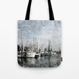 Shrimp Boats at the Pass Harbor Tote Bag