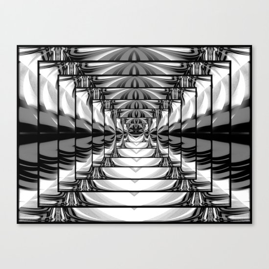Abstract.Black+White. Canvas Print