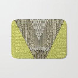 Light green and gray abstract Design Bath Mat