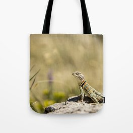 Lizard At Attention Tote Bag