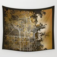 chicago Wall Tapestries featuring chicago by Bekim ART
