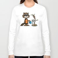 groot Long Sleeve T-shirts featuring Groot Grief! by Mike Handy Art