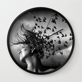 Flock of Crows Wall Clock