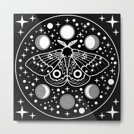 Moth in the Moon Light Metal Print
