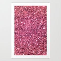 PINK GLITTER Art Print