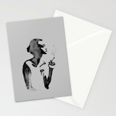Smoker (Ink Painting) Stationery Cards