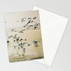 My heart beats in a million gulls Stationery Cards