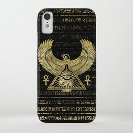 Egyptian Eye of Horus - Wadjet Gold and Black iPhone Case
