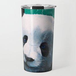 Panda - A little peckish - by LiliFlore Travel Mug