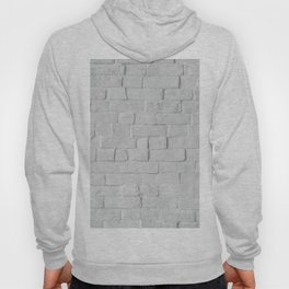 White Brick Wall (Black and White) Hoody