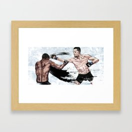 Nate Diaz vs. Michael Johnson Framed Art Print
