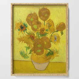 Van Gogh Sunflowers Serving Tray
