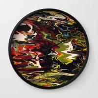 acid Wall Clocks featuring Acid by Jordan Luckow