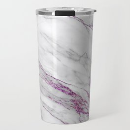 Gray and Ultra Violet Marble Agate Travel Mug
