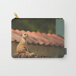 Meerkat Funny Observer #decor #society6 Carry-All Pouch