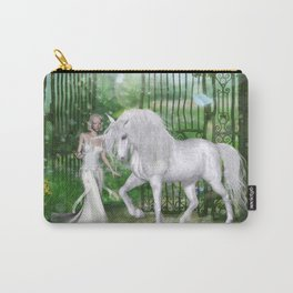 Wonderful fairy with unicorn Carry-All Pouch