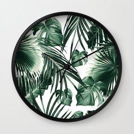 Tropical Jungle Leaves Dream #7 #tropical #decor #art #society6 Wall Clock