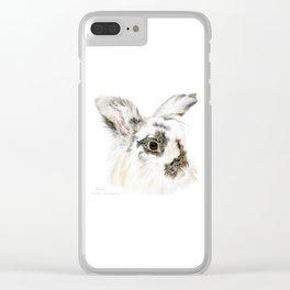 Pixie the Lionhead Rabbit by Teresa Thompson Clear iPhone Case