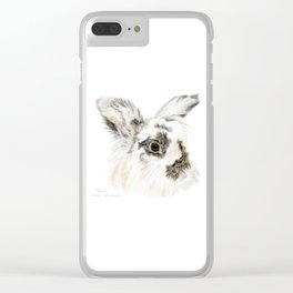 Pixie the Lionhead Rabbit by Teresa Thompson Clear iPhone Case