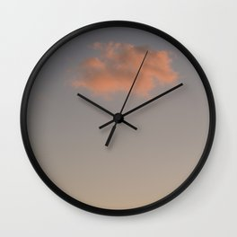 pink cloud- fine art print -Formentera travel photography Wall Clock